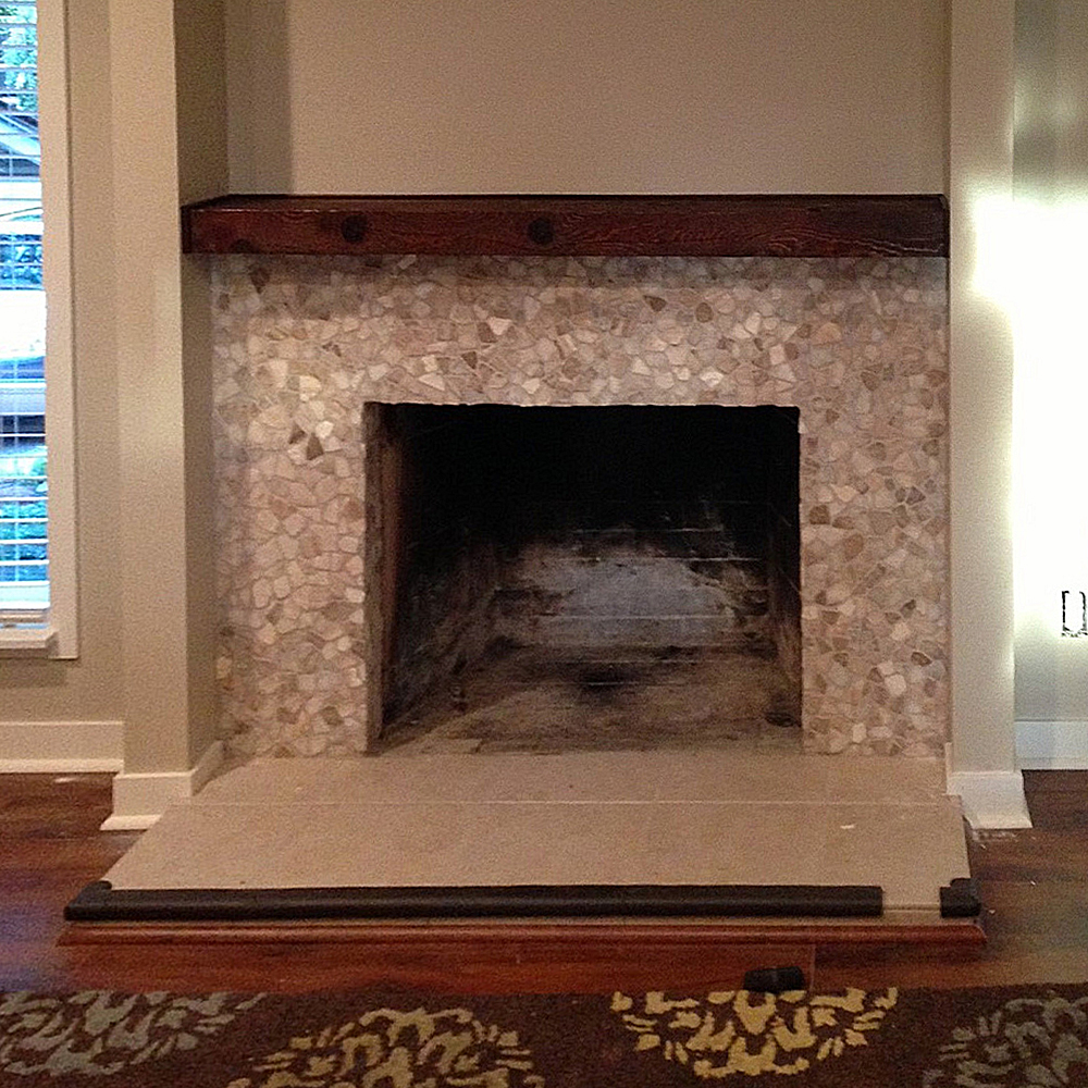 Pebble Tile Fireplaces