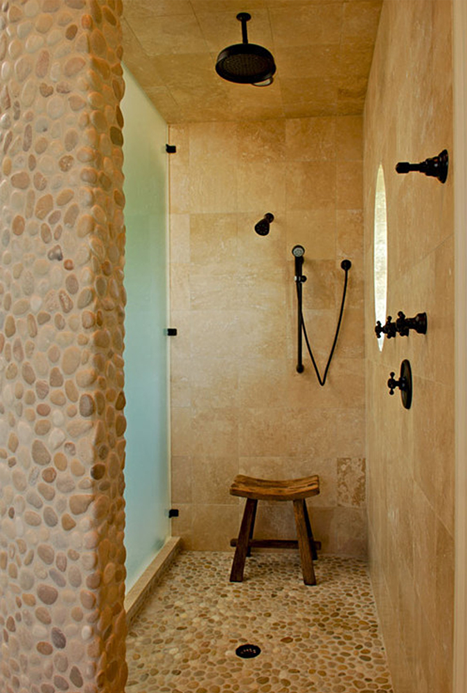 Pebble Tile Wall Coverings & Backsplashes